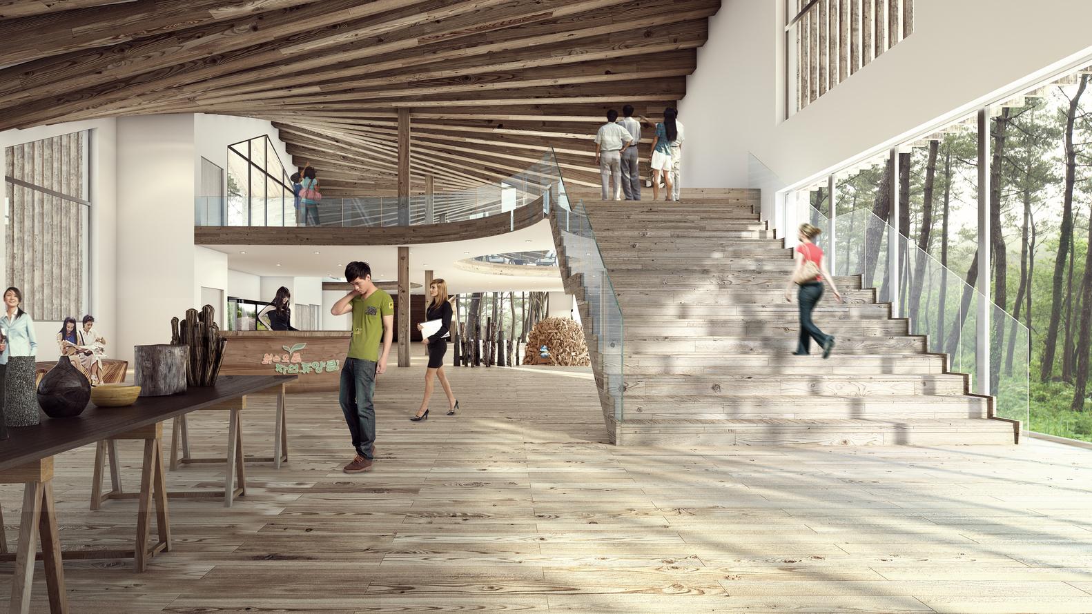 Urban Agency Group K Design Wood Experience Center On Jeju Island South Korea