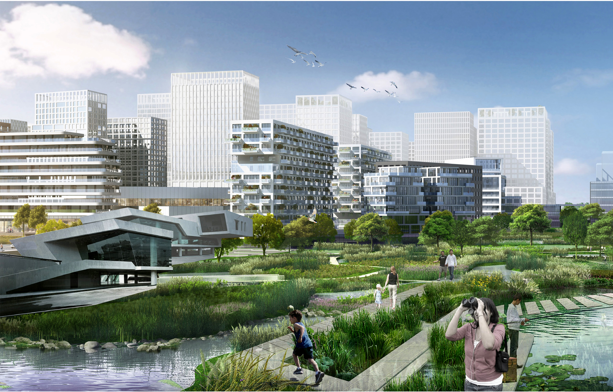 MLA+ and CAUPD Win Urban Design Competition to Regenerate Along ...
