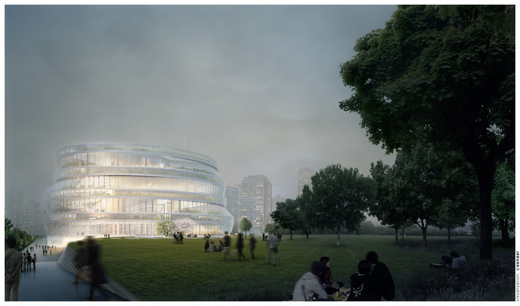 nArchitects Wins Shanghai Competition with Home-Inspired Library, Courtesy of nArchitects