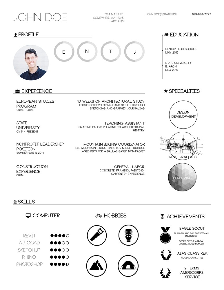 Gallery of the top architecture r sum cv designs 1 for Cv template for architects