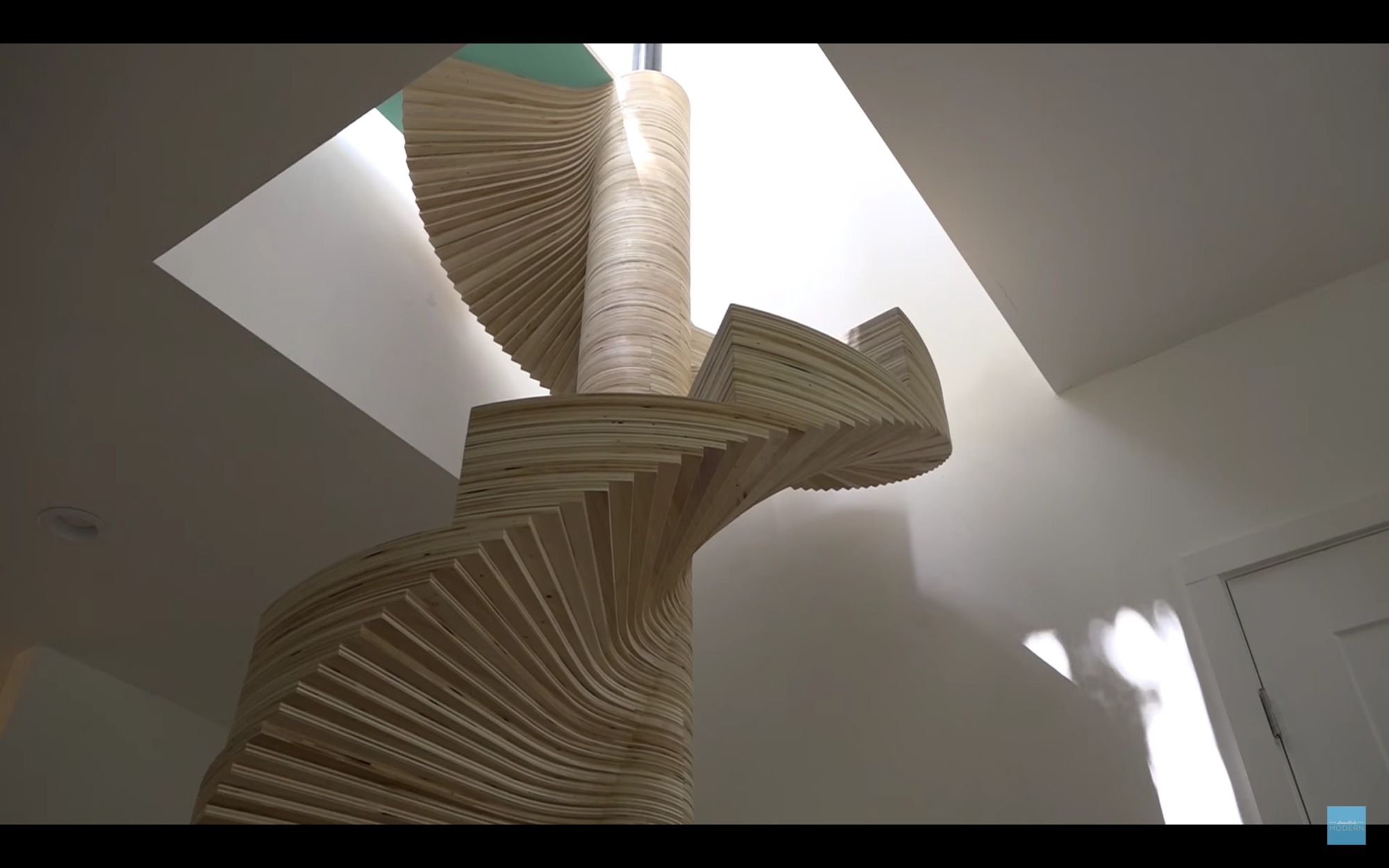Video how to build your own spiral staircase using a cnc for Build your own spiral staircase