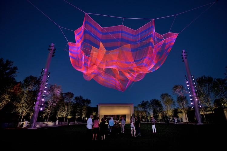 Janet Echelman's Railroad-Inspired Net Sculpture Premiers in North Carolina, © Lynn Donovan/CFGG