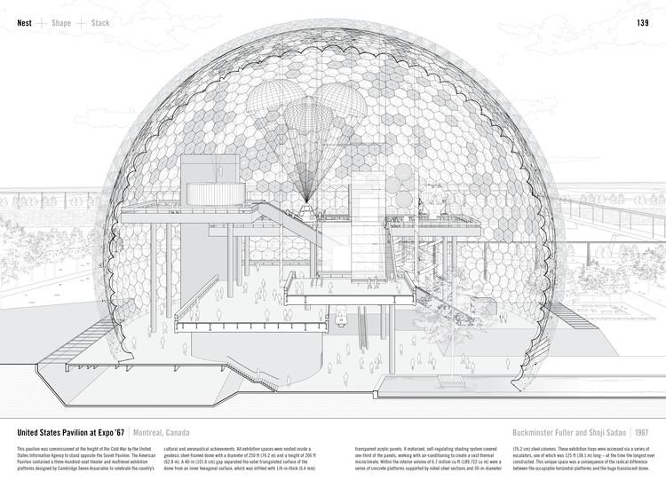 Pabellón Estados Unidos en la Expo '67 por Buckminster Fuller y Shoji Sadao (1967). Publicada en el Manual de la Sección de Paul Lewis, Marc Tsurumaki, y David J. Lewis publicado por Princeton Architectural Press (2016). Imagen © LTL Arquitectos