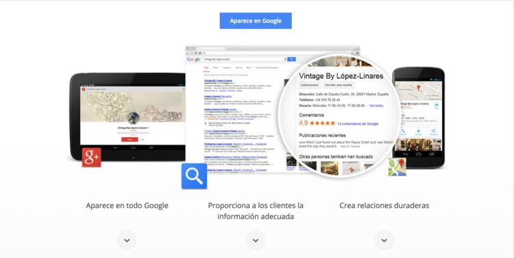 Google My Business. Image © Google