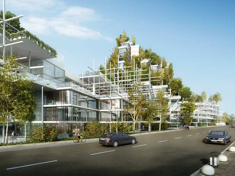 Architensions Shortlisted for Civic Center Design Using Local Vegetation in Sydney, Australia, Courtesy of Architensions
