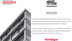 "Lanzamiento libro ""Arquitectura Moderna Residencial en Providencia"" / Santiago de Chile"