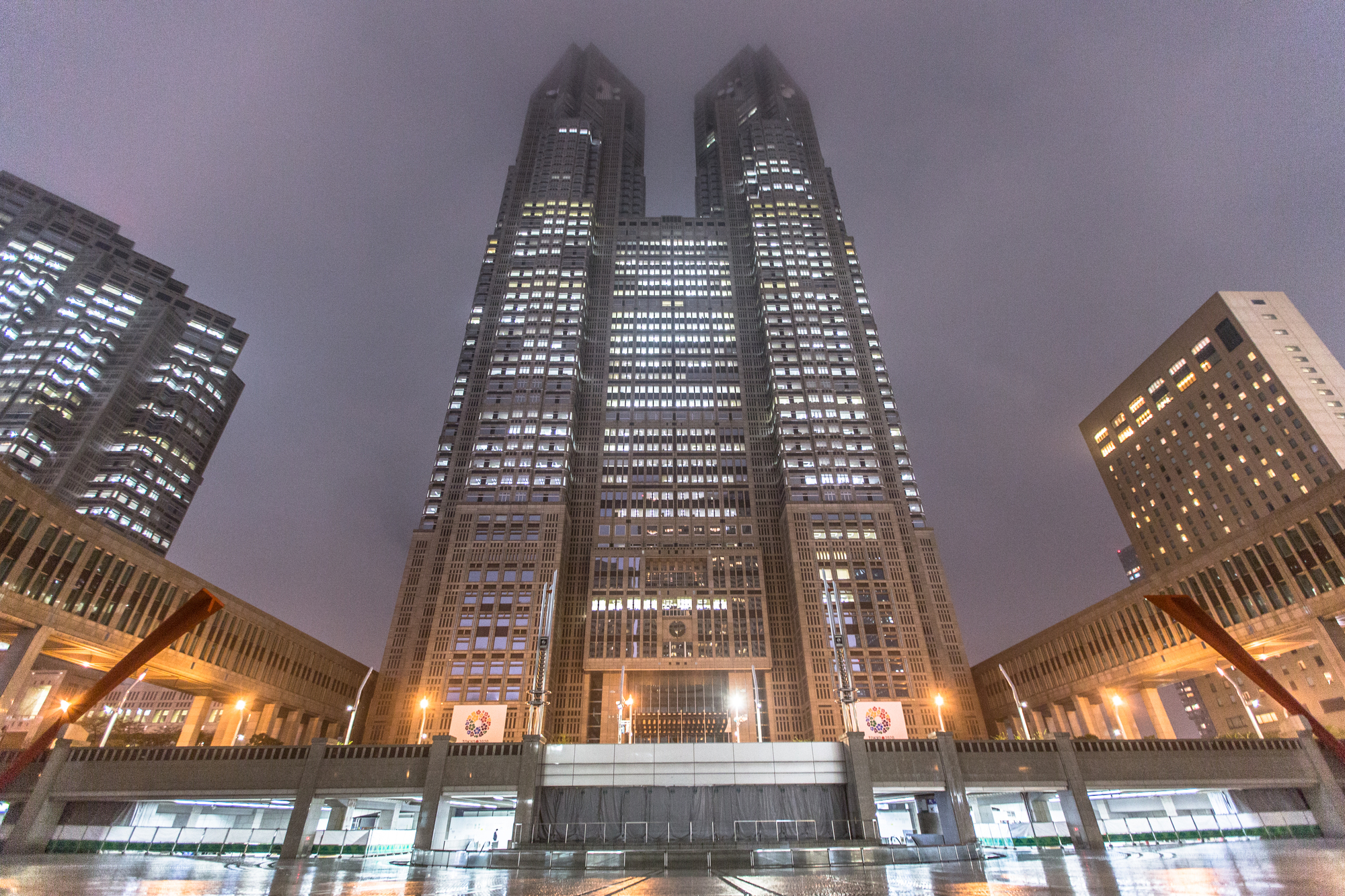 Ad classics tokyo metropolitan government building for Architectural columns