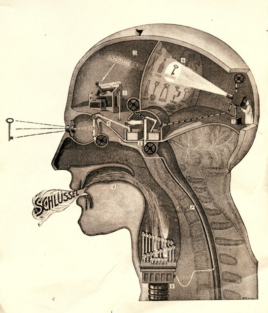 "Fritz Kahn: Man Machine (Edited, 2009). Image Courtesy of ""Are We Human"" / 3. Istanbul Tasarim Bienali"