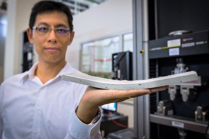 Investigadores del NTU Singapore desarrollan un hormigón flexible que resiste el agrietamiento, vía Nanyang Technological University
