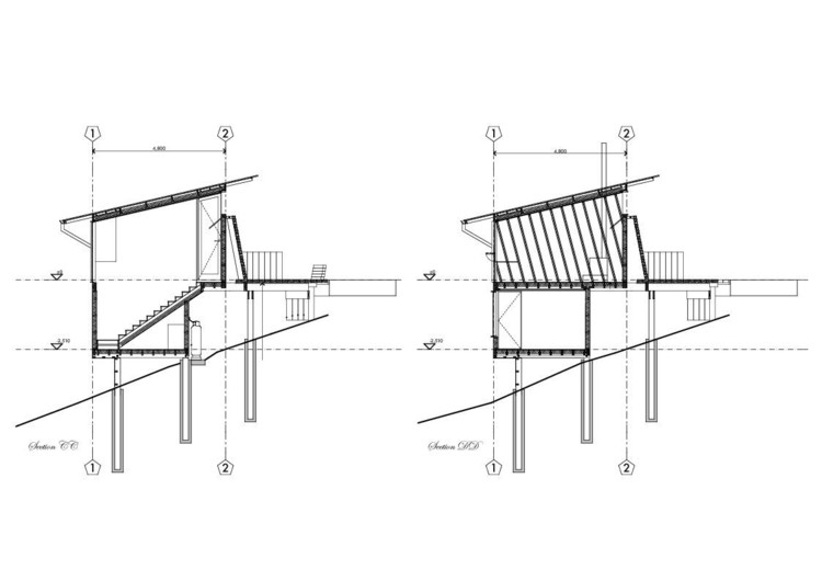Estúdio em Lyttelton / Bull O'Sullivan Architecture: Corte