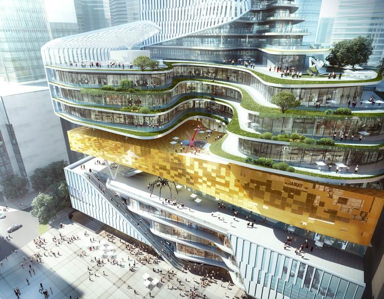 Con una librería en su núcleo, Aedas presenta nuevo proyecto de uso mixto en China, Cortesía de Aedas