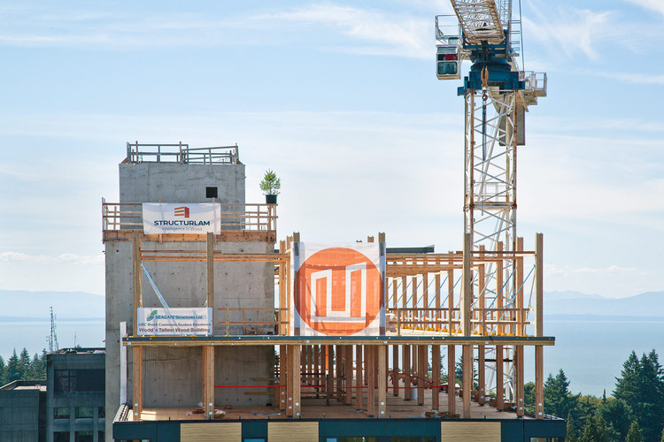 """World's Tallest Timber Tower"" Tops Out in Vancouver, Courtesy of Talk Shop Media"