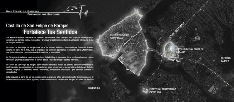 Estrategia Paisaje lumínico urbano. Image Cortesía de Equipo Tercer Lugar