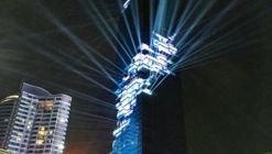 Thailand's Tallest Building, Designed by Büro Ole Scheeren, Opens with Light Show