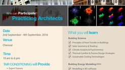 Thoughtful Cooling and Building Energy Modelling Workshop for Architects in Chennai