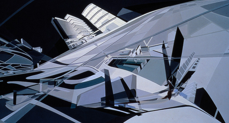 KMR Art and Media Centre - 1989/93. Image Courtesy of Zaha Hadid