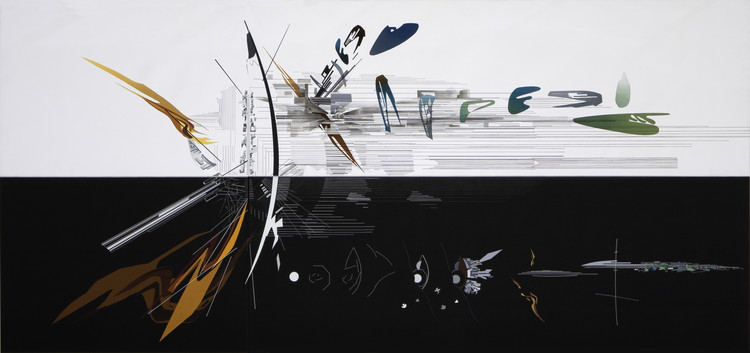 The Creative Process of Zaha Hadid, As Revealed Through Her Paintings, Vision for Madrid - 1992. Image Cortesía de Zaha Hadid