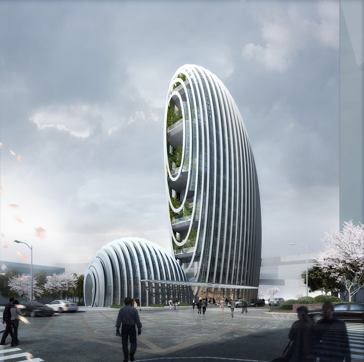 Aedas' Pebble-Inspired Lè Architecture in Taipei Nears Completion, Courtesy of Aedas
