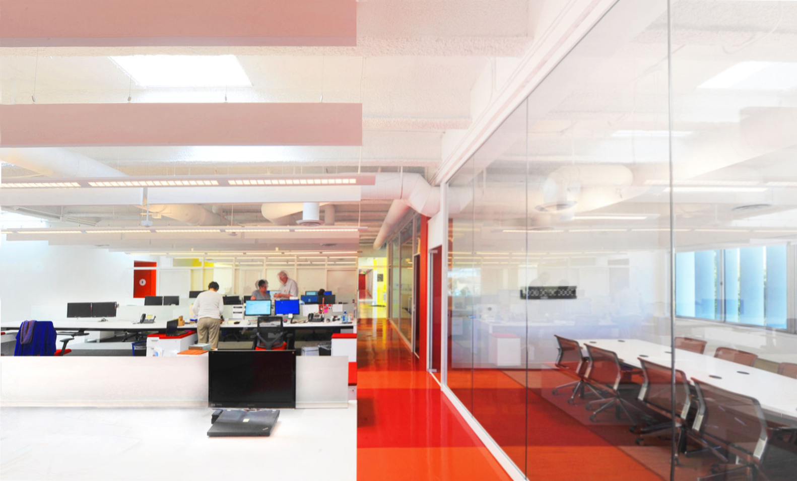 lehrer architects office design unite here health la officecourtesy of lehrer architects architecture office design ideas