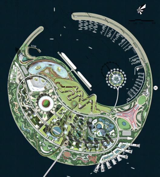 Otros concursantes: Boston International Design Group. Imagen cortesía de Guallart Architects