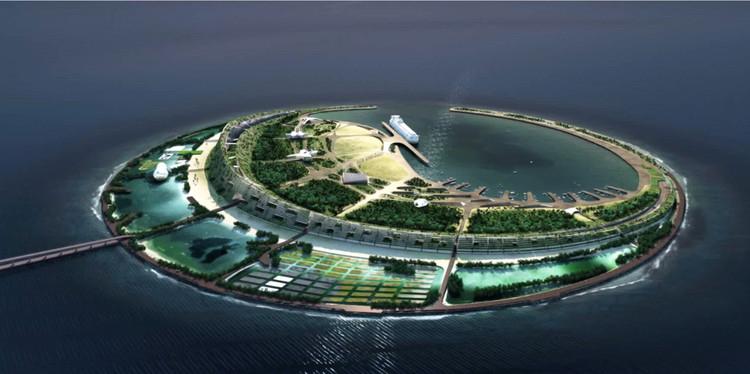 Diller Scofidio + Renfro ganan concurso para una Eco-Isla en China , 1º Lugar: Diller, Scofidio + Renfro. Imagen cortesía de Guallart Architects