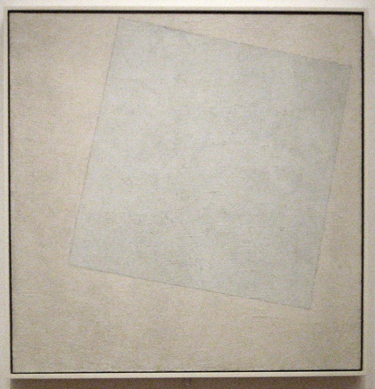 Kazimir Malevich. White on White, 1918. The Museum of Modern Art, [Dominio Público]. Image vía Wikimedia Commons
