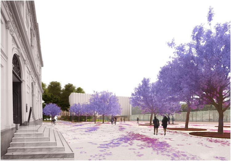 Primer Lugar concurso ampliación nueva ala del MALI / Burgos & Garrido AA + LLAMA Urban Design, Cortesía de LLAMA Urban Design