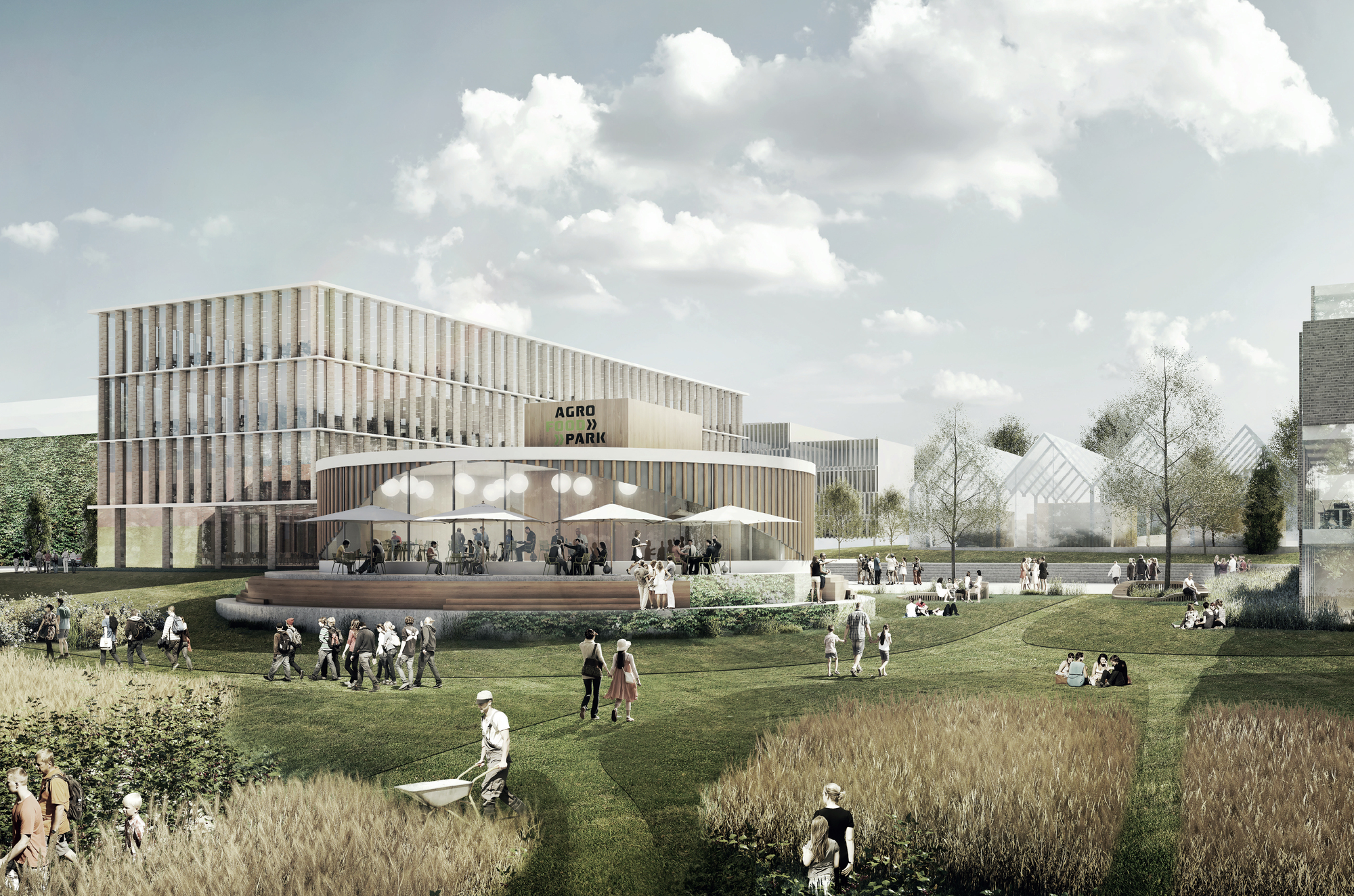 Agro food park expansion in denmark to combine urbanity and agriculture archdaily for 400 garden city plaza