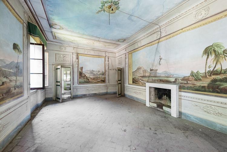 Italia; la historia de esta propiedad se remonta al siglo 15 pero tomó su forma actual (y los frescos datan del) siglo 18. Imagen © Mirna Pavlovic
