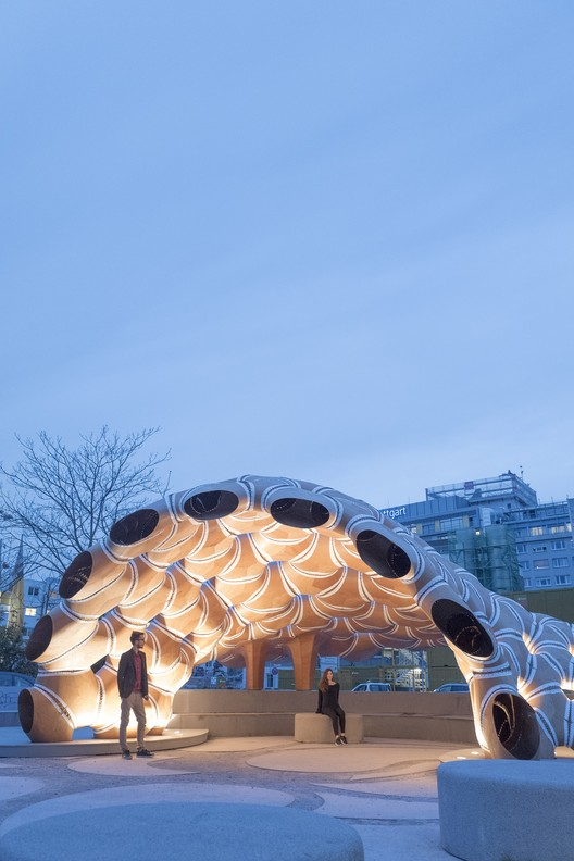 ICD/ITKE Research Pavilion 2015-16 (University of Stuttgart). Image Courtesy of Oliver Krieg