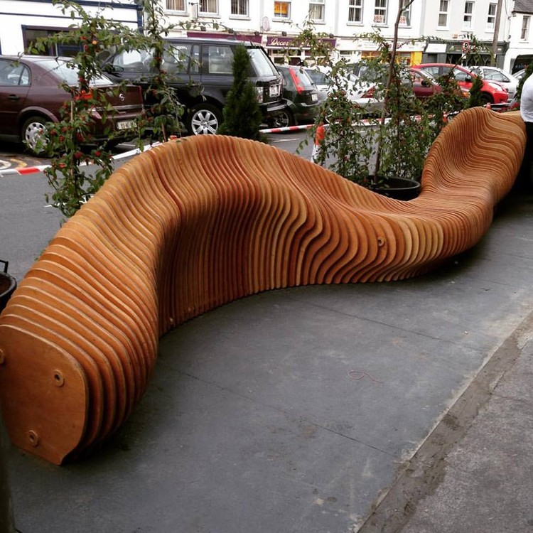 Woodquay Public Parklet (University of Limerick). Image Courtesy of Hottmar Loch