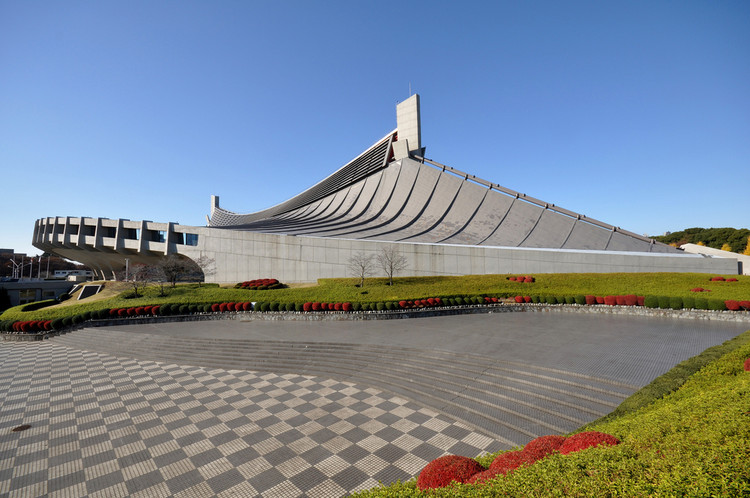 Yoyogi National Gymnasium. Image © <a href='https://www.flickr.com/photos/kanegen/3076874395/'>Flickr user kanegan</a> licensed under <a href='https://creativecommons.org/licenses/by/2.0/'>CC BY 2.0</a>