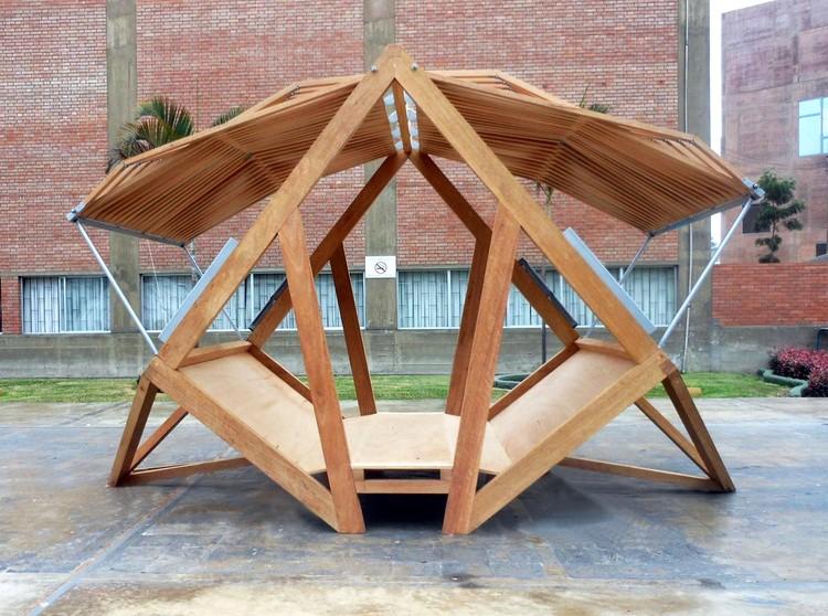 Pempén, a Transformable Module for the Peruvian Forest (Pontificia Universidad Católica del Perú). Image Cortesía de Pempén