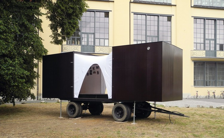 The Movable Immovable (Bauhaus-Universität Weimar). Image Cortesía de Stephan Schultz