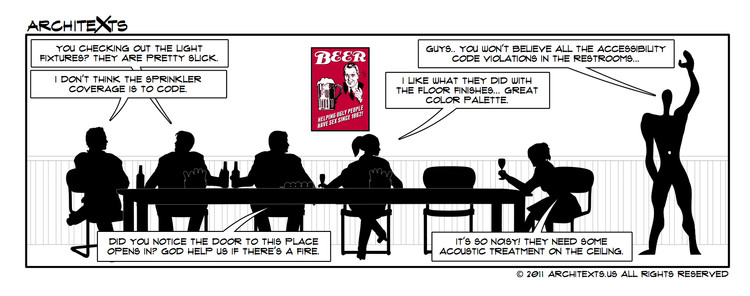Comic Break: Architects In Restaurants, Courtesy of Architexts