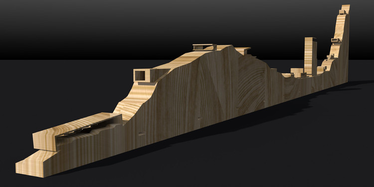 Maqueta [visualización 3D]. Image Cortesía de COAM / Felipe Assadi