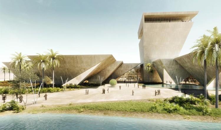 Mención Honrosa: Tsampikos Petras & Georgios Chousos. Imagen vía Bibliotecha Alexandrina / International Architectural Competition of the Science City