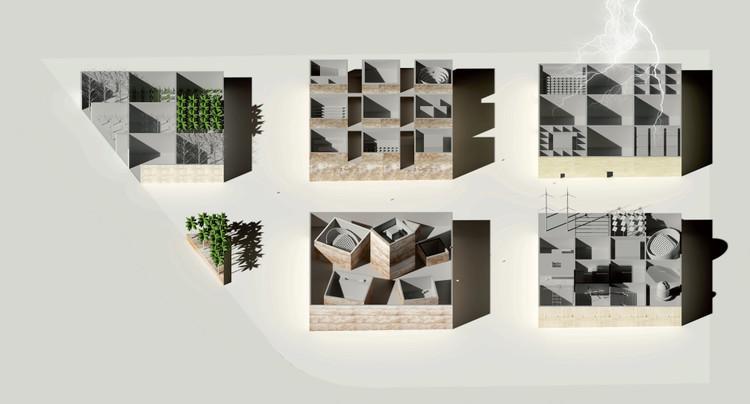 Mención Honrosa: Francisco Jorquera. Imagen vía Bibliotecha Alexandrina / International Architectural Competition of the Science City