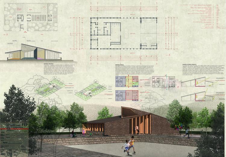 Escuela Caren en Melipeuco / Rodrigo Duque Motta + MAPA.a. Image Cortesía de MINEDUC
