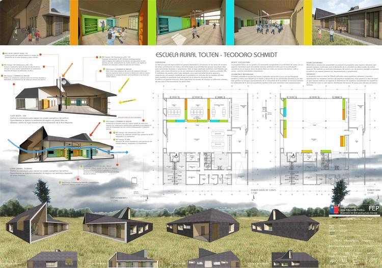 Escuela Toltén en Teodoro Schmidt / O+S Arquitectos. Image Cortesía de MINEDUC