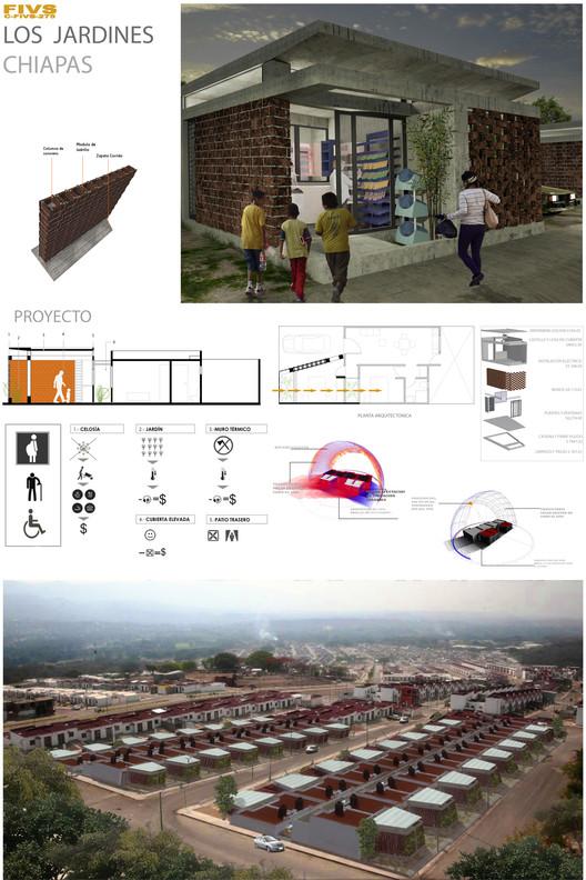 Segundo lugar: C-FIVS-275 (Chiapas) / Universidad Autónoma de Chiapas. Facultad de Arquitectura