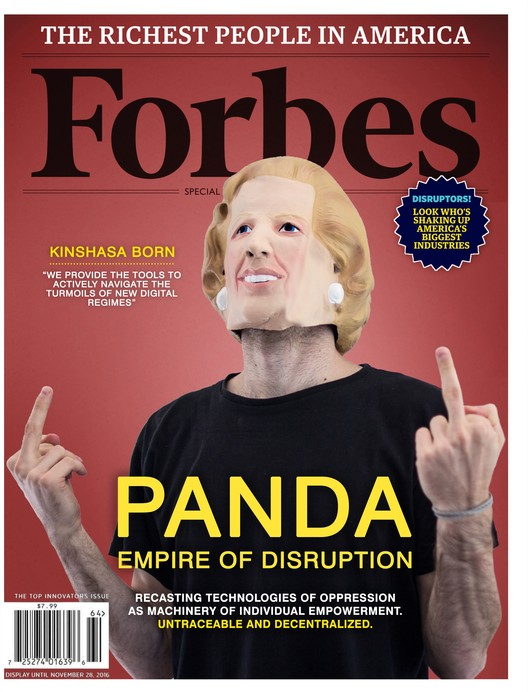 PANDA, a counter-organization for-profit platform in Forbes. Image Courtesy of OMA & Bengler