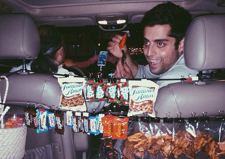 A Lyft driver sells snacks to late-night passengers, Los Angeles. Image Courtesy of OMA & Bengler