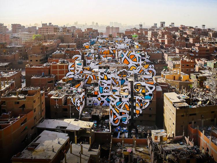 Charla TED del muralista eL Seed: un proyecto de paz pintado en 50 edificios, © eL Seed
