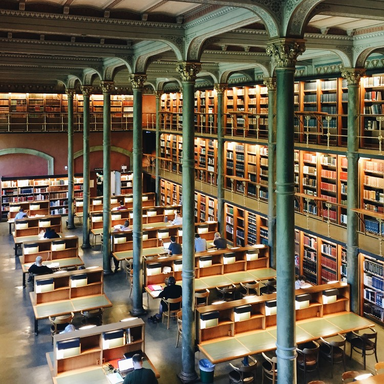 Biblioteca Kungliga, Estocolmo. Imagen © Olivier Martel Savoie, @une_olive