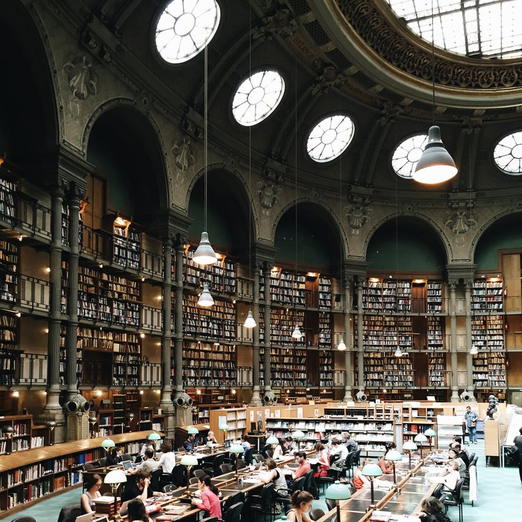 Biblioteca Richelieu-Louvois, París. Imagen © Olivier Martel Savoie, @une_olive