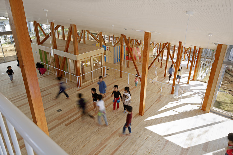 Hakusui Nursery School / Yamazaki Kentaro Design Workshop. Image Cortesía de Yamazaki Kentaro Design Workshop
