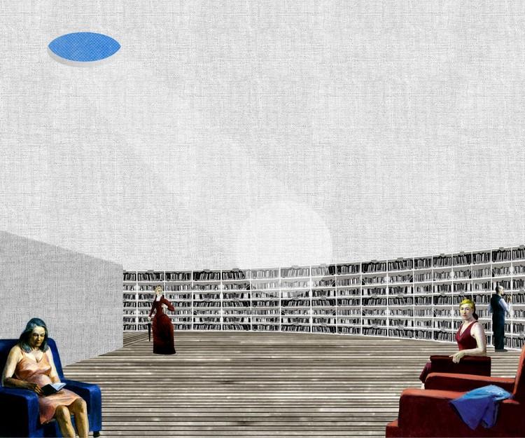 Biblioteca Pública em Setubal, Portugal. Image Cortesia de FALA Atelier