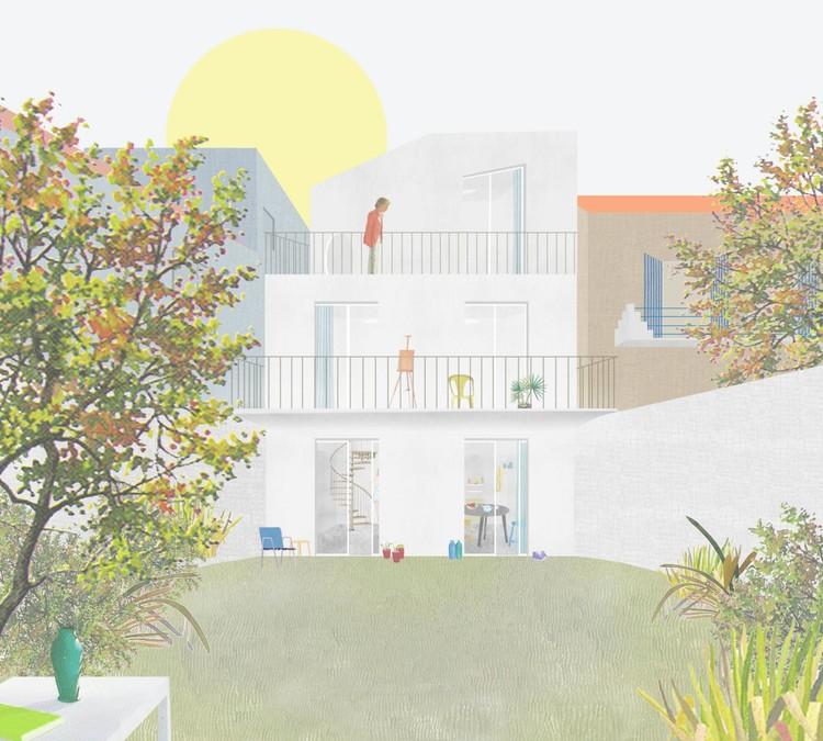 Duas propostas para um restauro, Marselha, França. Image Cortesia de FALA Atelier