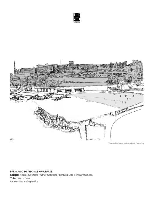 Balneario de piscinas naturales / L01. Image Cortesía de Arquitectura Caliente